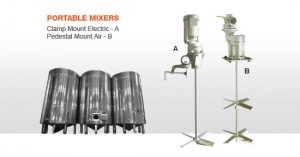 Portable Industrial Mixers - Clamp and Pedestal Mounted