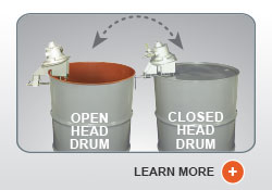 Universal Open/Closed Head Drum - Tank Mixers