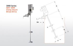 MMX 2000 Barrel Mixer - Clamp Mount