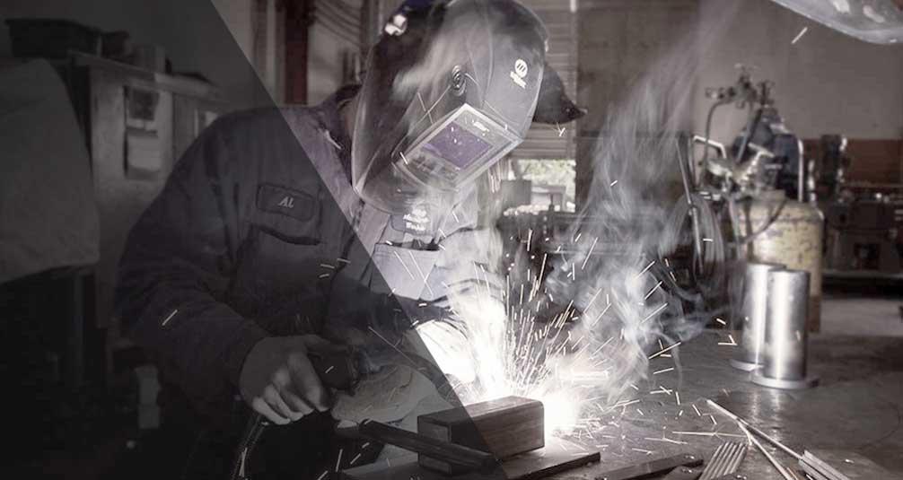 Welding industrial mixers